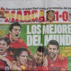 Coleccionismo deportivo: DIARIO MARCA - 8 DE JULIO DE 2010 - ESPAÑA 1 ALEMANIA 0 - FUTBOL - CAMPEONATO DEL MUNDO 2010. Lote 44442847
