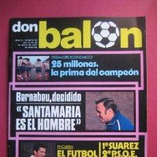 Coleccionismo deportivo: DON BALON Nº85 1977 . Lote 39672776