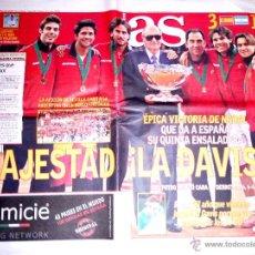 Coleccionismo deportivo: PERIODICO AS ESPAÑA CAMPEONA TENIS QUINTA COPA DAVIS. Lote 39674314