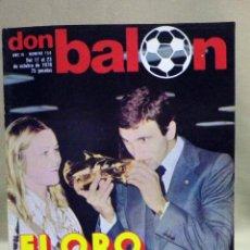 Coleccionismo deportivo: REVISTA DEPORTIVA, FUTBOL, DON BALON, Nº 158, 1978, KRANKL. Lote 40237892
