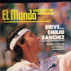 Coleccionismo deportivo: SUPLEMENTO MUNDO DEPORTIVO - 22 MAYO 1988 - SIRVE...EMILIO SANCHEZ.. Lote 39780346