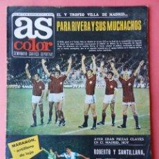 Coleccionismo deportivo: REVISTA AS COLOR 1977-SANTILLANA-QUINI SPORTING-DIARTE VALENCIA-IRURETA-NIKI LAUDA-ESPAÑOL-NETZER. Lote 166439544