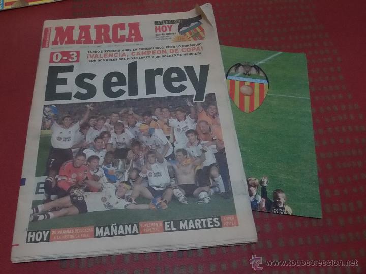 DIARIO MARCA VALENCIA CAMPEON DE COPA 1999 CON POSTER (Coleccionismo Deportivo - Revistas y Periódicos - Marca)