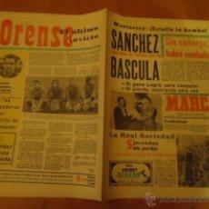 Coleccionismo deportivo: ANTIGUO DIARIO MARCA - FUTBOL Y DEPORTES - AÑO 1972 NUMERO 9632 17 DICIEMBRE . Lote 40185087