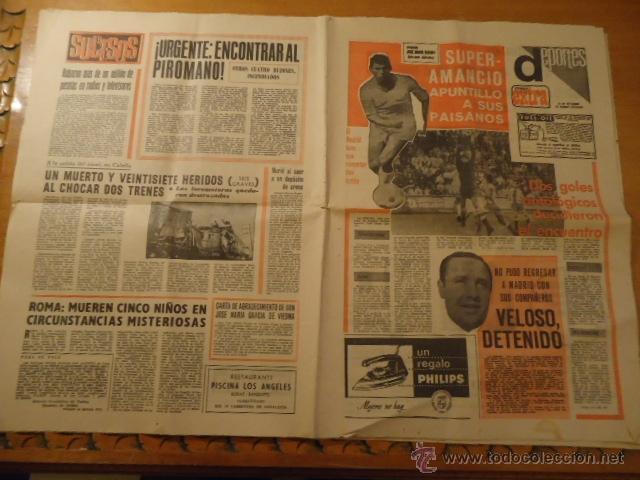 ANTIGUO DIARIO MARCA - FUTBOL Y DEPORTES - AÑO 23 SEPTIEMBRE1968 PUEBLO EXTRA - REAL MADRID (Coleccionismo Deportivo - Revistas y Periódicos - Marca)