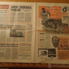 Coleccionismo deportivo: ANTIGUO DIARIO MARCA - FUTBOL Y DEPORTES - AÑO 23 SEPTIEMBRE1968 PUEBLO EXTRA - REAL MADRID. Lote 40185492