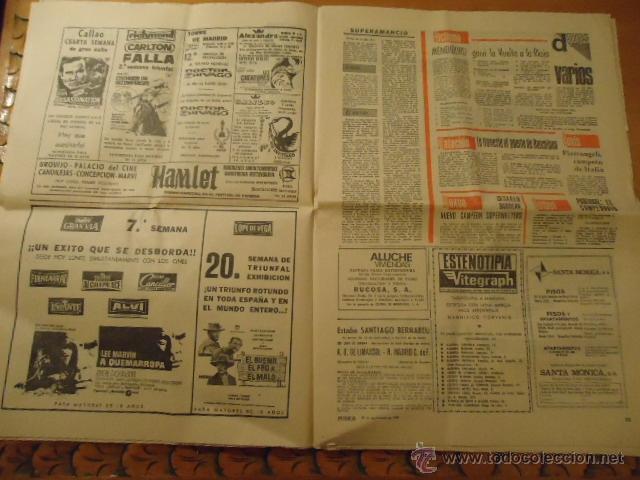 Coleccionismo deportivo: antiguo diario marca - futbol y deportes - año 23 septiembre1968 pueblo extra - REAL MADRID - Foto 7 - 40185492