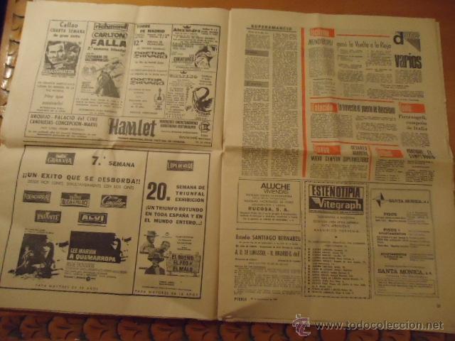 Coleccionismo deportivo: antiguo diario marca - futbol y deportes - año 23 septiembre1968 pueblo extra - REAL MADRID - Foto 8 - 40185492