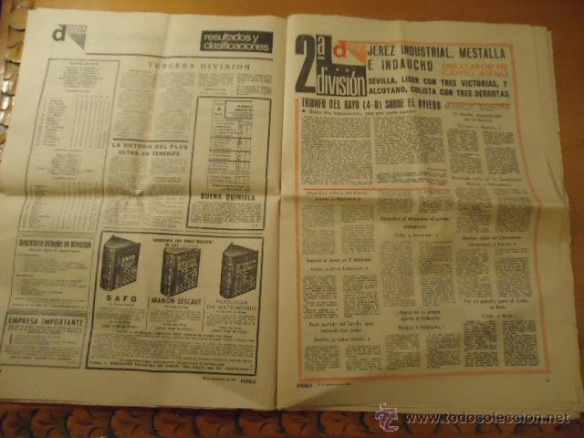 Coleccionismo deportivo: antiguo diario marca - futbol y deportes - año 23 septiembre1968 pueblo extra - REAL MADRID - Foto 9 - 40185492