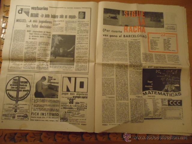 Coleccionismo deportivo: antiguo diario marca - futbol y deportes - año 23 septiembre1968 pueblo extra - REAL MADRID - Foto 11 - 40185492