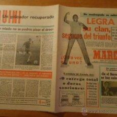 Coleccionismo deportivo: ANTIGUO DIARIO MARCA - FUTBOL Y DEPORTES - AÑO 16 DICIEMBRE 1972 EN EL BARCELONA NO HAY EUFORIA. Lote 40186494