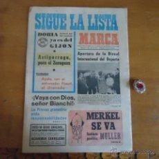 Coleccionismo deportivo: ANTIGUO DIARIO MARCA - FUTBOL Y DEPORTES - BOXEO TOROS TENIS - REAL MADRID FC BARCELONA ETC 1973. Lote 40220353