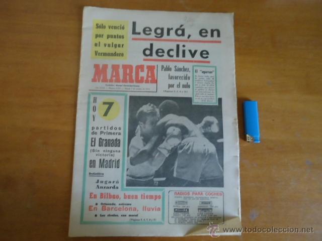 ANTIGUO DIARIO MARCA - FUTBOL Y DEPORTES - BOXEO TOROS TENIS - REAL MADRID FC BARCELONA ETC 1972 (Coleccionismo Deportivo - Revistas y Periódicos - Marca)