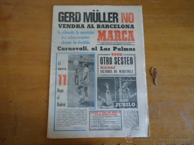 ANTIGUO DIARIO MARCA - FUTBOL Y DEPORTES - BOXEO TOROS TENIS - REAL MADRID FC BARCELONA ETC 1978 (Coleccionismo Deportivo - Revistas y Periódicos - Marca)