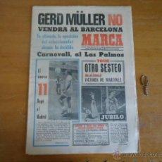 Coleccionismo deportivo: ANTIGUO DIARIO MARCA - FUTBOL Y DEPORTES - BOXEO TOROS TENIS - REAL MADRID FC BARCELONA ETC 1978. Lote 40220429