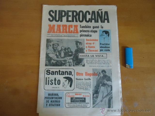 ANTIGUO DIARIO MARCA - FUTBOL Y DEPORTES - BOXEO TOROS TENIS - REAL MADRID FC BARCELONA ETC 1973 (Coleccionismo Deportivo - Revistas y Periódicos - Marca)