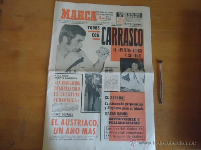 ANTIGUO DIARIO MARCA - FUTBOL Y DEPORTES - BOXEO TOROS TENIS - REAL MADRID FC BARCELONA ETC 1958 (Coleccionismo Deportivo - Revistas y Periódicos - Marca)