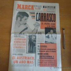 Coleccionismo deportivo: ANTIGUO DIARIO MARCA - FUTBOL Y DEPORTES - BOXEO TOROS TENIS - REAL MADRID FC BARCELONA ETC 1958. Lote 40222481