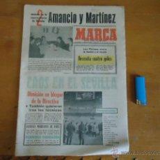 Coleccionismo deportivo: ANTIGUO DIARIO MARCA - FUTBOL Y DEPORTES - BOXEO TOROS TENIS - REAL MADRID FC BARCELONA ETC 1972. Lote 40222505
