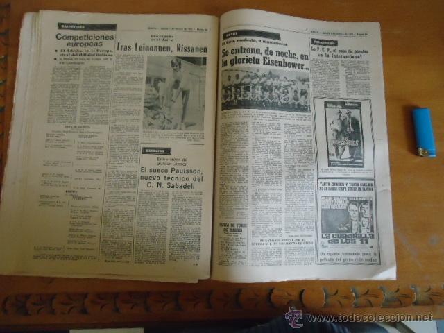 Coleccionismo deportivo: antiguo diario marca - futbol y deportes - boxeo toros tenis - real madrid fc barcelona etc 1972 - Foto 4 - 40220372