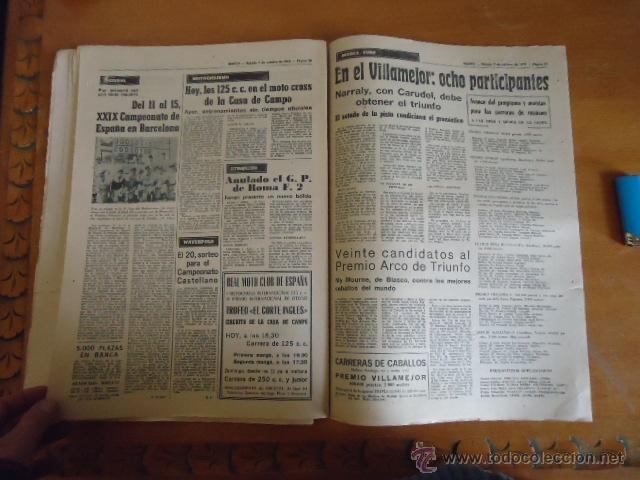 Coleccionismo deportivo: antiguo diario marca - futbol y deportes - boxeo toros tenis - real madrid fc barcelona etc 1972 - Foto 5 - 40220372