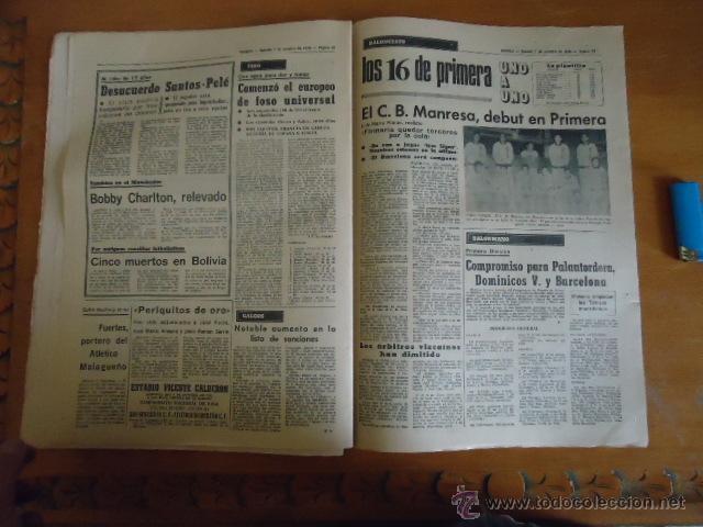 Coleccionismo deportivo: antiguo diario marca - futbol y deportes - boxeo toros tenis - real madrid fc barcelona etc 1972 - Foto 7 - 40220372