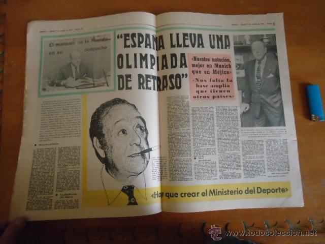 Coleccionismo deportivo: antiguo diario marca - futbol y deportes - boxeo toros tenis - real madrid fc barcelona etc 1972 - Foto 10 - 40220372