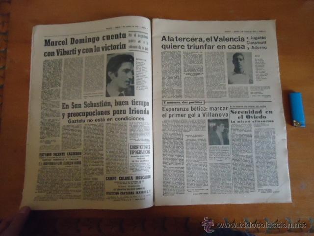 Coleccionismo deportivo: antiguo diario marca - futbol y deportes - boxeo toros tenis - real madrid fc barcelona etc 1972 - Foto 14 - 40220372
