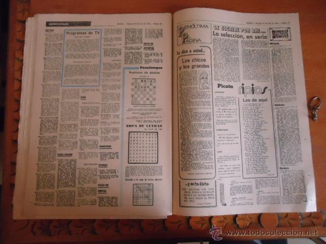 Coleccionismo deportivo: antiguo diario marca - futbol y deportes - boxeo toros tenis - real madrid fc barcelona etc 1978 - Foto 3 - 40220429