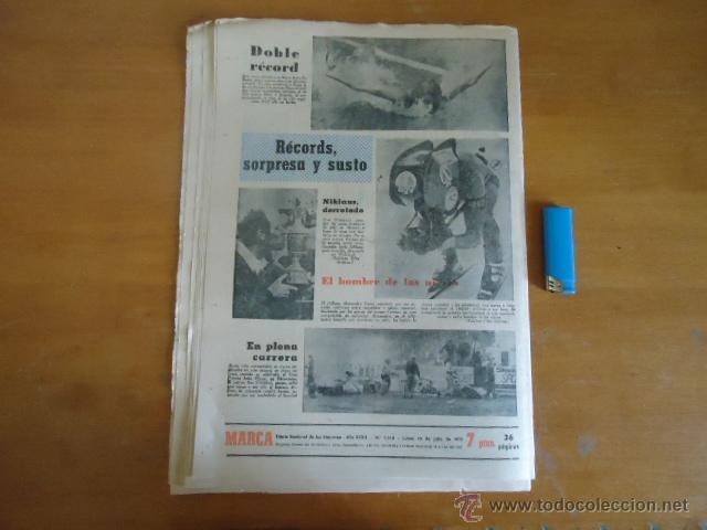 Coleccionismo deportivo: antiguo diario marca - futbol y deportes - boxeo toros tenis - real madrid fc barcelona etc 1973 - Foto 2 - 40220567