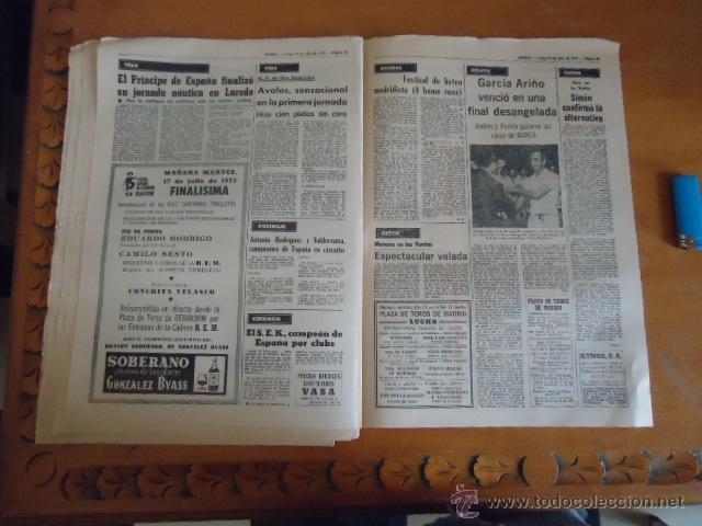 Coleccionismo deportivo: antiguo diario marca - futbol y deportes - boxeo toros tenis - real madrid fc barcelona etc 1973 - Foto 4 - 40220567