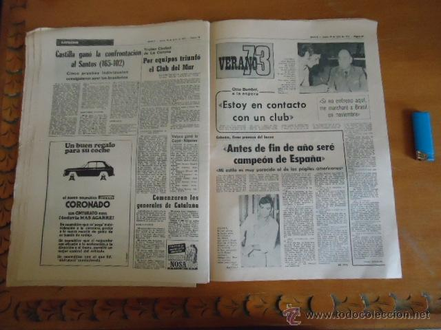 Coleccionismo deportivo: antiguo diario marca - futbol y deportes - boxeo toros tenis - real madrid fc barcelona etc 1973 - Foto 7 - 40220567