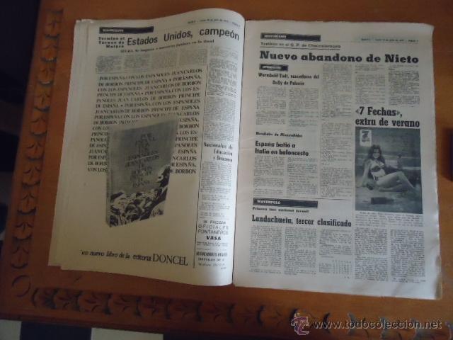 Coleccionismo deportivo: antiguo diario marca - futbol y deportes - boxeo toros tenis - real madrid fc barcelona etc 1973 - Foto 16 - 40220567