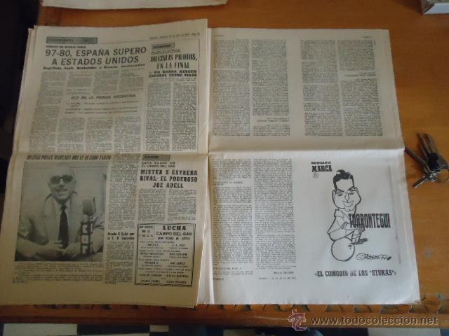 Coleccionismo deportivo: antiguo diario marca - futbol y deportes - boxeo toros tenis - real madrid fc barcelona etc 1958 - Foto 5 - 40222289