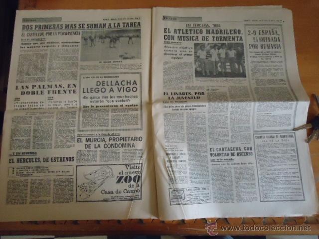 Coleccionismo deportivo: antiguo diario marca - futbol y deportes - boxeo toros tenis - real madrid fc barcelona etc 1958 - Foto 10 - 40222289