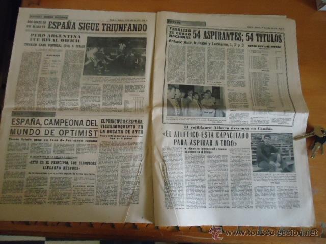 Coleccionismo deportivo: antiguo diario marca - futbol y deportes - boxeo toros tenis - real madrid fc barcelona etc 1958 - Foto 11 - 40222289
