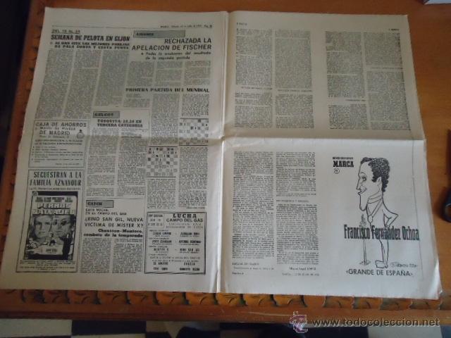 Coleccionismo deportivo: antiguo diario marca - futbol y deportes - boxeo toros tenis - real madrid fc barcelona etc 1958 - Foto 5 - 40222304