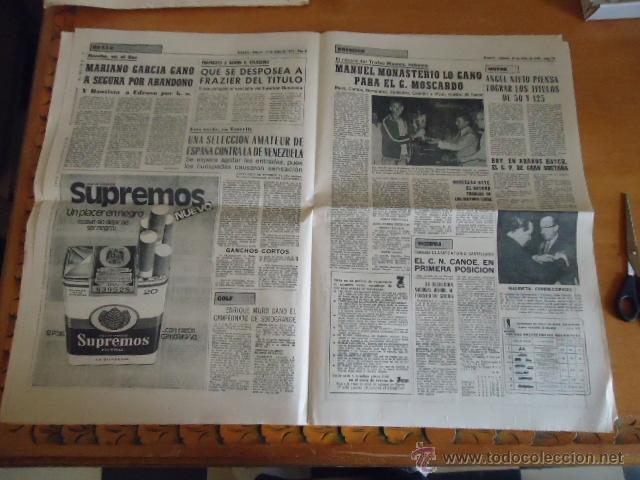 Coleccionismo deportivo: antiguo diario marca - futbol y deportes - boxeo toros tenis - real madrid fc barcelona etc 1958 - Foto 6 - 40222304