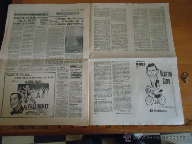 Coleccionismo deportivo: antiguo diario marca - futbol y deportes - boxeo toros tenis - real madrid fc barcelona etc 1958 - Foto 5 - 40222328