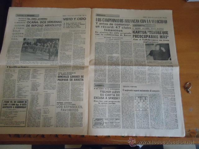 Coleccionismo deportivo: antiguo diario marca - futbol y deportes - boxeo toros tenis - real madrid fc barcelona etc 1958 - Foto 6 - 40222328