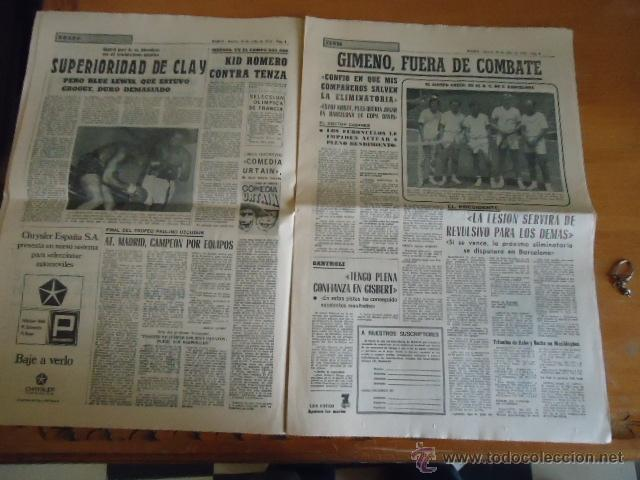 Coleccionismo deportivo: antiguo diario marca - futbol y deportes - boxeo toros tenis - real madrid fc barcelona etc 1958 - Foto 8 - 40222328