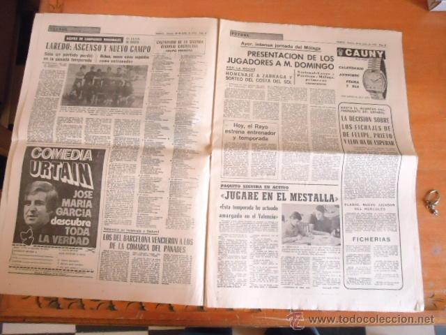 Coleccionismo deportivo: antiguo diario marca - futbol y deportes - boxeo toros tenis - real madrid fc barcelona etc 1958 - Foto 10 - 40222328