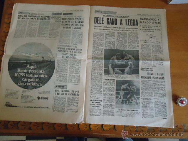 Coleccionismo deportivo: antiguo diario marca - futbol y deportes - boxeo toros tenis - real madrid fc barcelona etc 1958 - Foto 5 - 40222387
