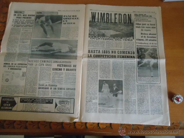 Coleccionismo deportivo: antiguo diario marca - futbol y deportes - boxeo toros tenis - real madrid fc barcelona etc 1958 - Foto 6 - 40222387