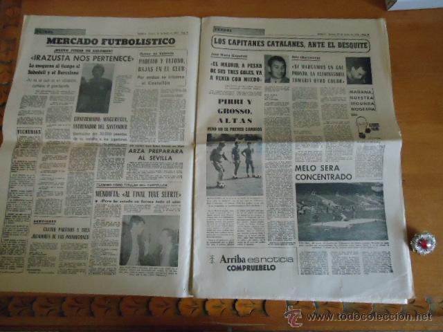 Coleccionismo deportivo: antiguo diario marca - futbol y deportes - boxeo toros tenis - real madrid fc barcelona etc 1958 - Foto 11 - 40222387