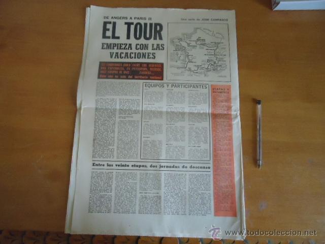 Coleccionismo deportivo: antiguo diario marca - futbol y deportes - boxeo toros tenis - real madrid fc barcelona etc 1958 - Foto 2 - 40222481