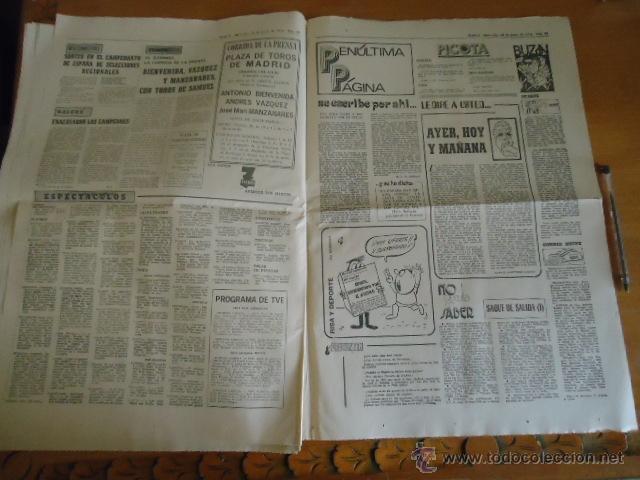 Coleccionismo deportivo: antiguo diario marca - futbol y deportes - boxeo toros tenis - real madrid fc barcelona etc 1958 - Foto 3 - 40222481