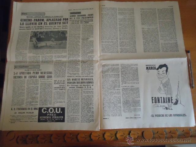 Coleccionismo deportivo: antiguo diario marca - futbol y deportes - boxeo toros tenis - real madrid fc barcelona etc 1958 - Foto 5 - 40222481
