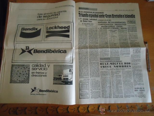 Coleccionismo deportivo: antiguo diario marca - futbol y deportes - boxeo toros tenis - real madrid fc barcelona etc 1958 - Foto 7 - 40222481