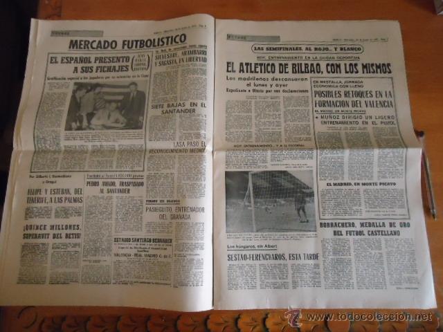Coleccionismo deportivo: antiguo diario marca - futbol y deportes - boxeo toros tenis - real madrid fc barcelona etc 1958 - Foto 9 - 40222481